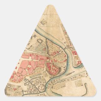 Krakow Poland 1755 Triangle Sticker