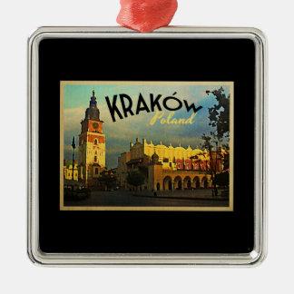 Krakow Poland Metal Ornament
