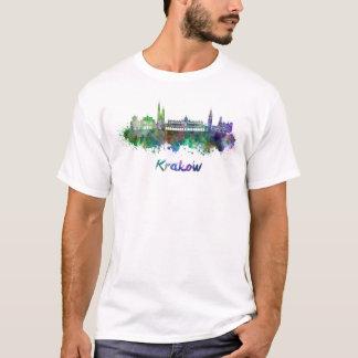 Krakow skyline in watercolor T-Shirt