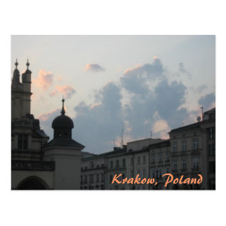 Krakow Sunset Postcard