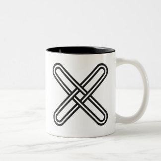 Kramo Bone | Warning Against Deception Hypocrisy Two-Tone Coffee Mug