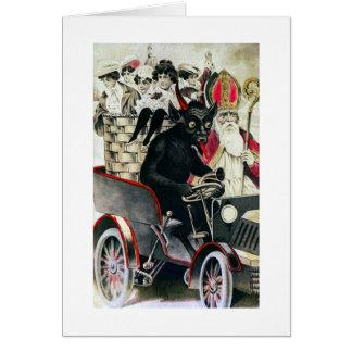 Krampus and Saint Nicholas Card