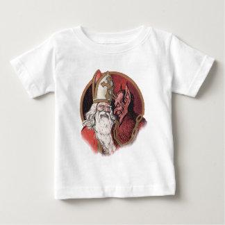 Krampus and Santa Christmas Baby T-Shirt
