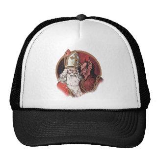 Krampus and Santa Christmas Cap