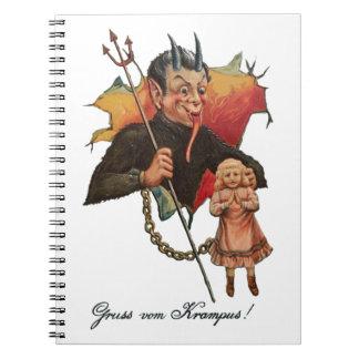 Krampus Breaking Through Notebook
