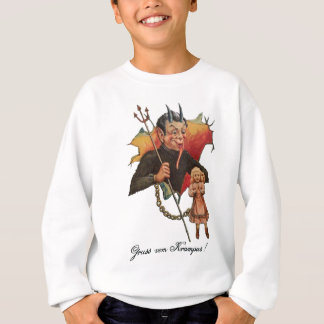 Krampus Breaking Through Sweatshirt