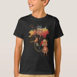 Krampus Breaking Through T-Shirt