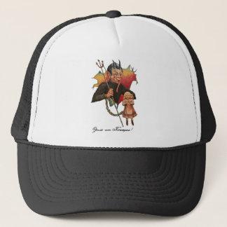 Krampus Breaking Through Trucker Hat
