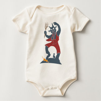 Krampus + Cats Baby Bodysuit