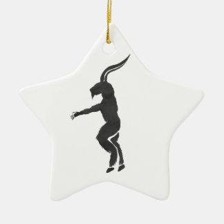 Krampus Ceramic Star Decoration