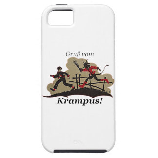 Krampus Chases Kid iPhone 5 Cover