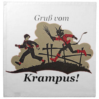 Krampus Chases Kid Napkin
