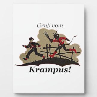 Krampus Chases Kid Plaque