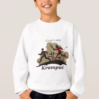 Krampus Chases Kid Sweatshirt