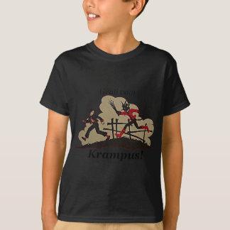 Krampus Chases Kid T-Shirt