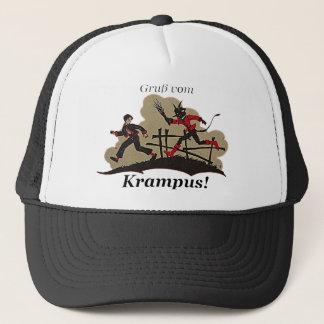 Krampus Chases Kid Trucker Hat