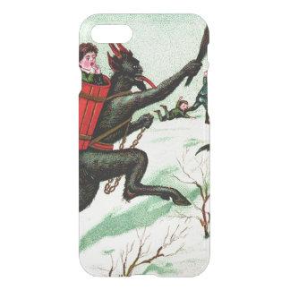 Krampus Chasing Bad Children Winter Snow iPhone 7 Case