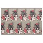 Krampus Chasing Children Switch Fabric