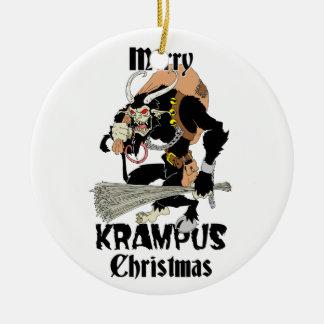 Krampus Christmas Ceramic Ornament