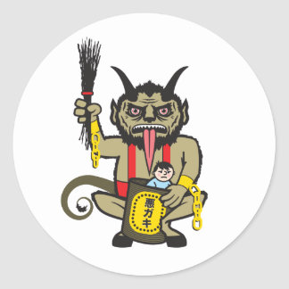 Krampus Classic Round Sticker