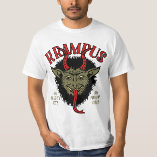 Krampus Face Naughty T-Shirt