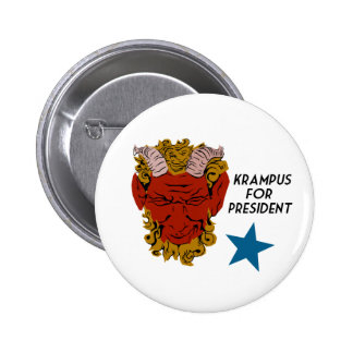 Krampus for President campaign button