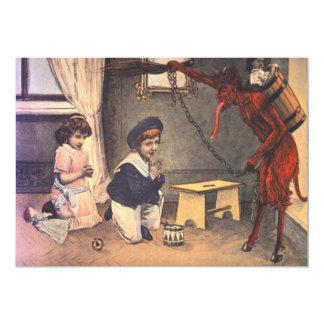 Krampus Kidnapping Bad Children Card