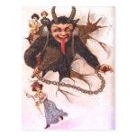 Krampus Kidnapping Women Postcard