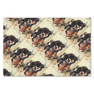 Krampus Kids in Basket Christmas Holiday Xmas Tissue Paper