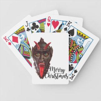 krampus merry christmas bicycle playing cards