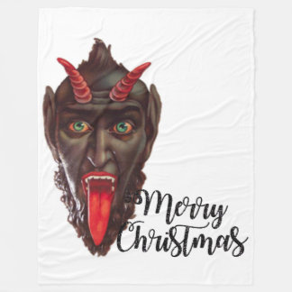 krampus merry christmas blanket
