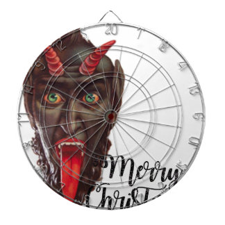 krampus merry christmas dartboard