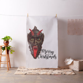 krampus merry christmas fabric
