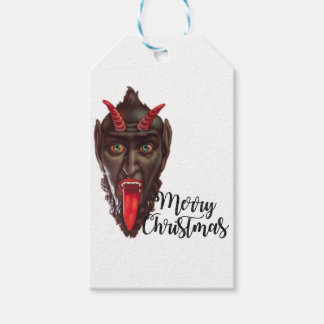 krampus merry christmas gift tags