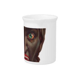 krampus merry christmas pitcher