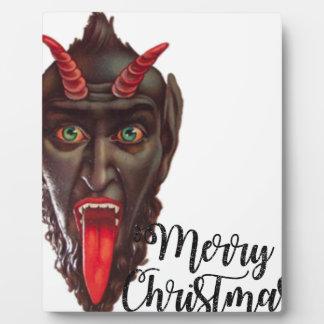 krampus merry christmas plaque