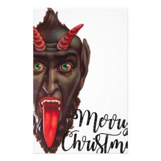 krampus merry christmas stationery
