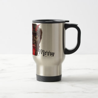 krampus merry christmas travel mug
