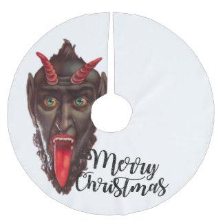 krampus merry christmas tree skirt