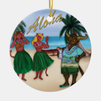 Krampus on Vacation Ornament