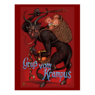 Krampus postcard