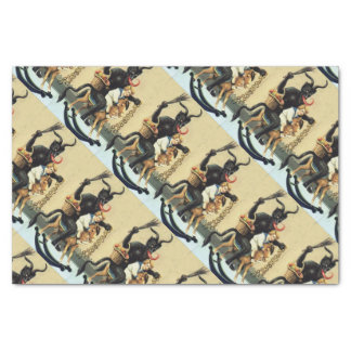 Krampus Rocking Horse Demon Holiday Christmas Xmas Tissue Paper