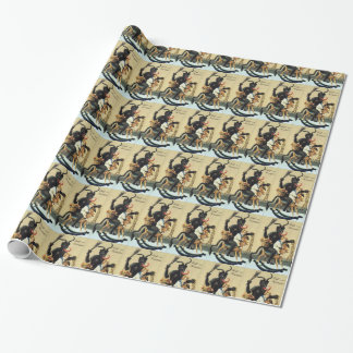 Krampus Rocking Horse Holiday Christmas Gift Wrap
