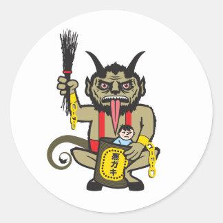 Krampus Round Sticker
