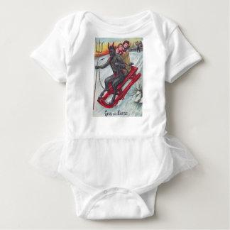 Krampus Sled Baby Bodysuit