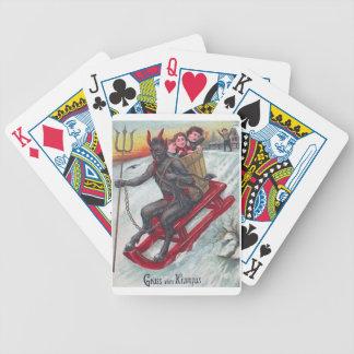 Krampus Sled Bicycle Playing Cards