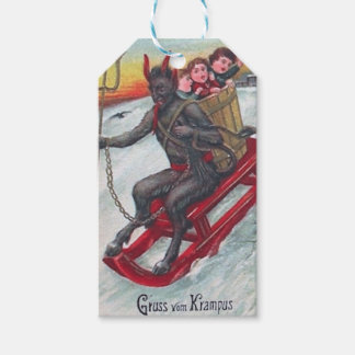 Krampus Sled Gift Tags