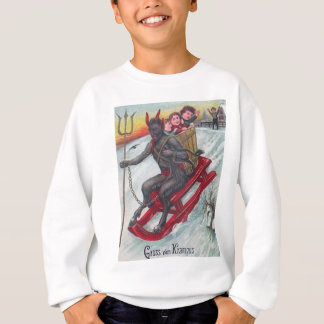 Krampus Sled Sweatshirt