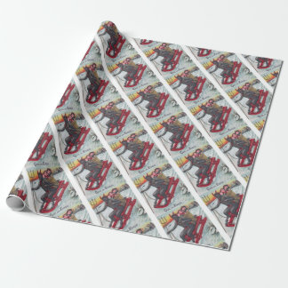 Krampus Sled Wrapping Paper
