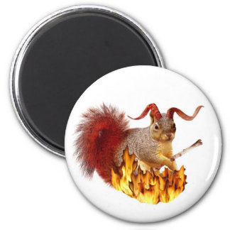 Krampus Squirrel Magnet